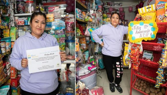 Ganó el concurso organizado por la Asociación de Bodegueros del Perú y se convirtió en la 'Bodeguera del Año'. Recibió este reconocimiento el pasado 12 de agosto, Día del Bodeguero. Fotos: Trome.