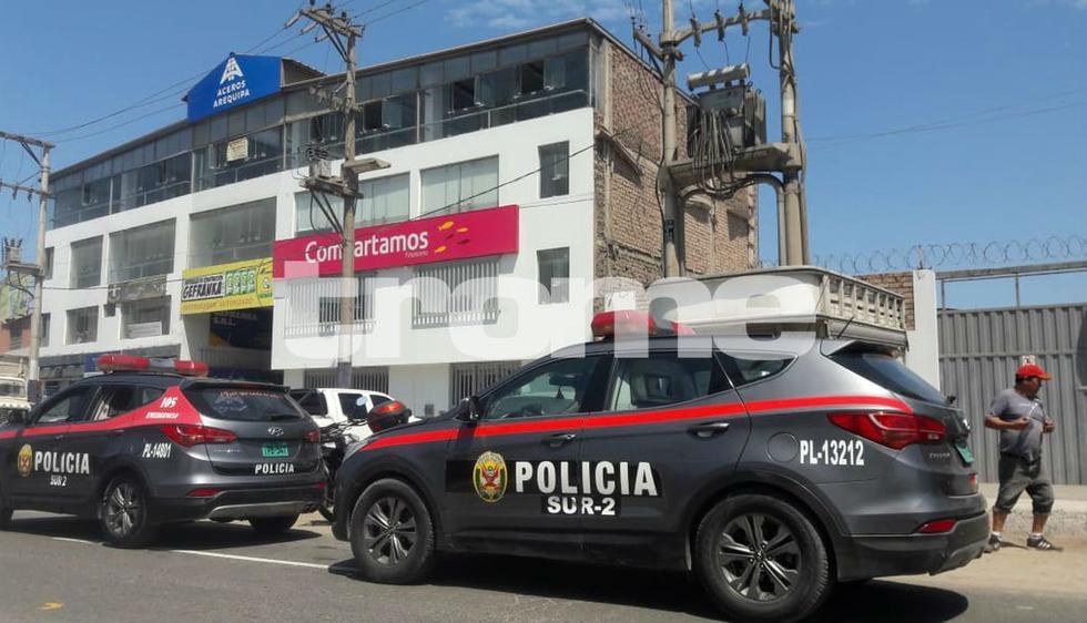 Asalto a financiera de Chorrillos. Foto: Nathalie Salazar