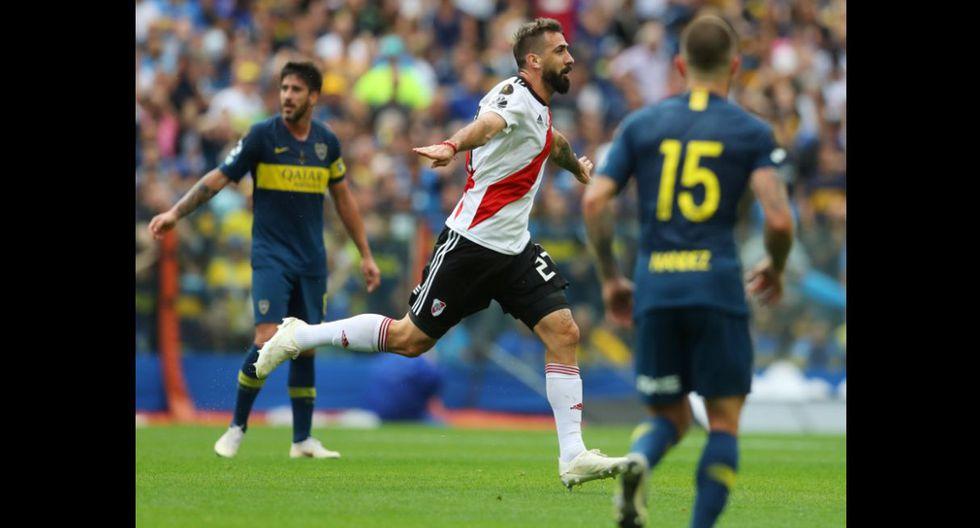 Gol de Pratto en el Boca Juniors vs River Plate por la final de la Copa Libertadores. (Fotos: Agencias)