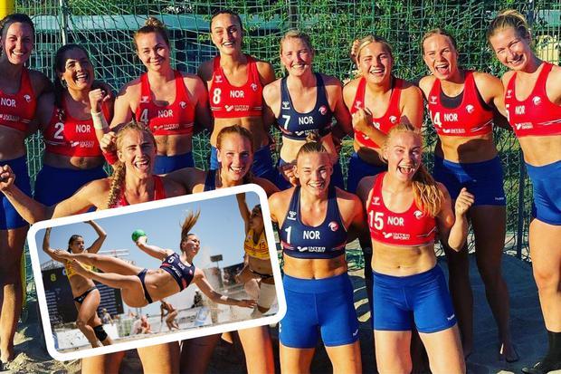 Pese a su derrota en el torneo del que fue partícipe, el equipo femenino noruego de balonmano de playa instauró un precedente (Foto Facebook)