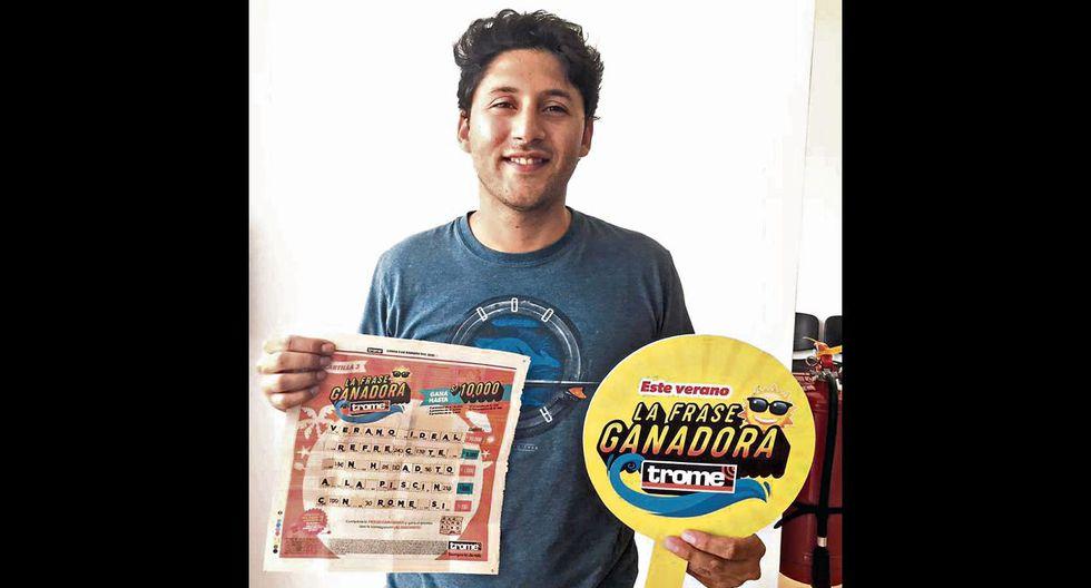 Lizandro Ponce de León Aguirre (31) se llevó el premio mayor de 'La Frase Ganadora del Verano'   TROME