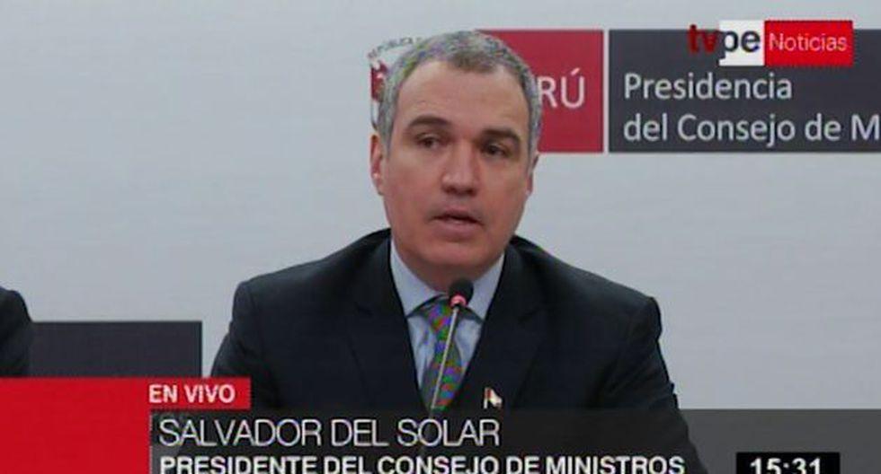 Salvador del Solar le responde a Jorge del Castillo
