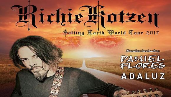 Todo se encuentra listo para el esperado el concierto de Richie Kotzen en Perú.