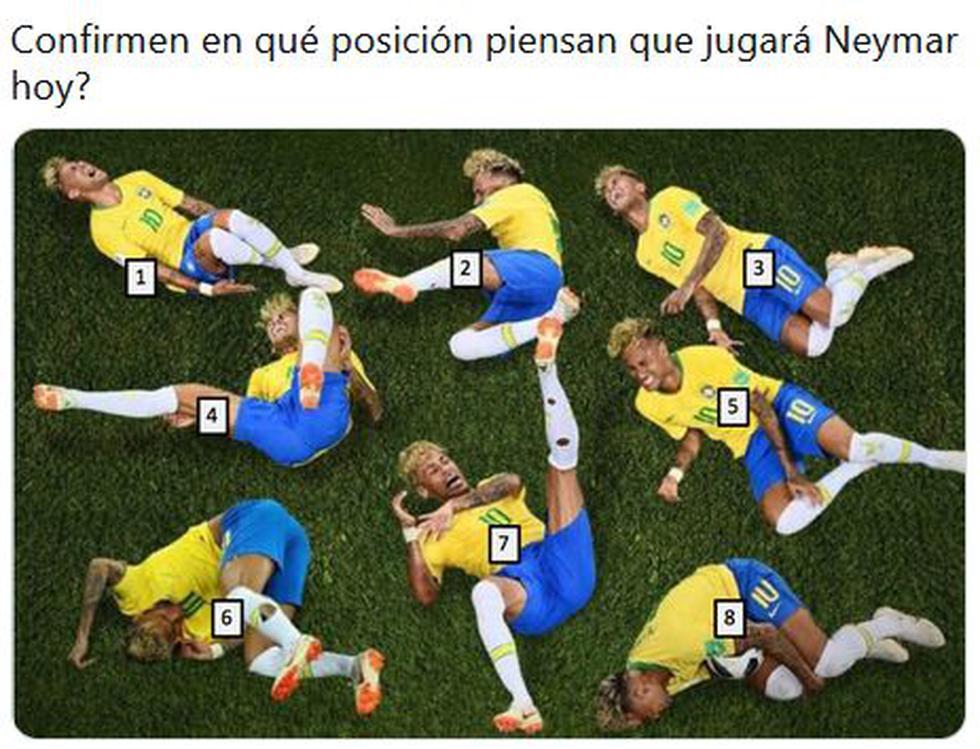 Memes de los 'piscinazos' de Neymar en el Perú vs Brasil por la Copa América 2021