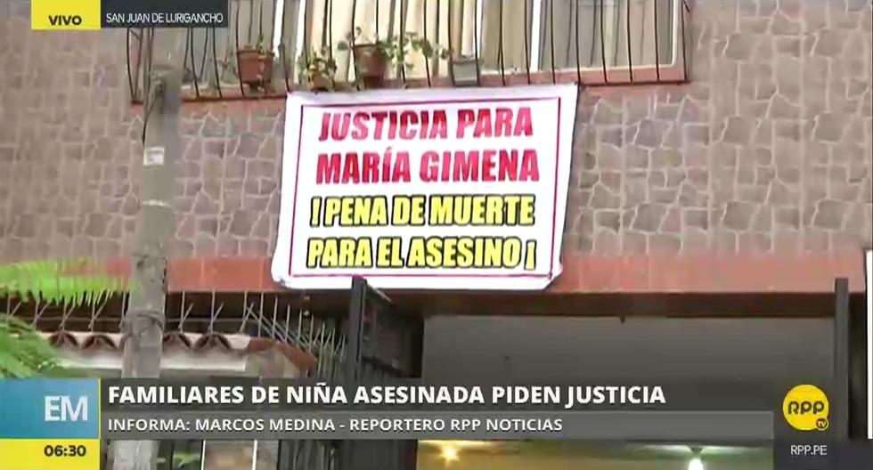 El pedido de justicia de los familiares de la pequeña asesinada llega desde San Juan de Lurigancho.