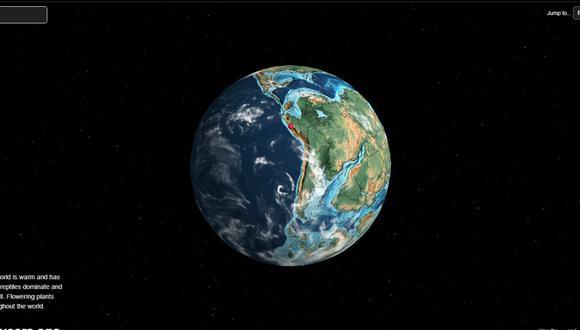 El mapa que muestra dónde se encontraba tu ciudad hace millones de años. (Foto: Ancient Earth globe)