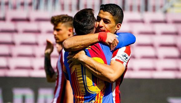 Luis Suárez y Lionel Messi se reencontraron en el Camp Nou.