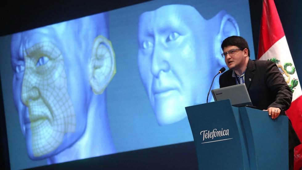 Investigadores recrearon el rostro del Señor de Sipán con ayuda de programas informáticos. Foto: EFE