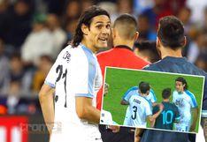 Lionel Messi no aflojó y retó a pelear a Edinson Cavani en amistoso con Uruguay | VIDEO | FOTOS