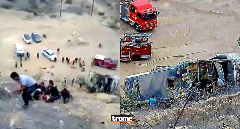 Ocho hinchas del Barcelona de Ecuador muertos y más de 30 heridos tras despiste y caída de bus interprovincial  en Piura | TROME