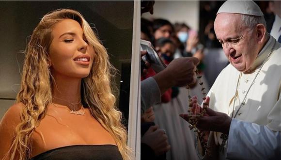 ¿Quién es Natalia Garibotto, la modelo que habría recibió un 'like' del Papa Francisco?. (Foto: @franciscus/@nataagataa)