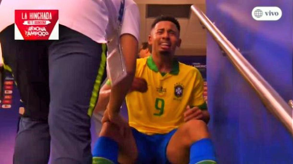 Gabriel Jesús terminó llorando como niño en  túnel del Maracaná
