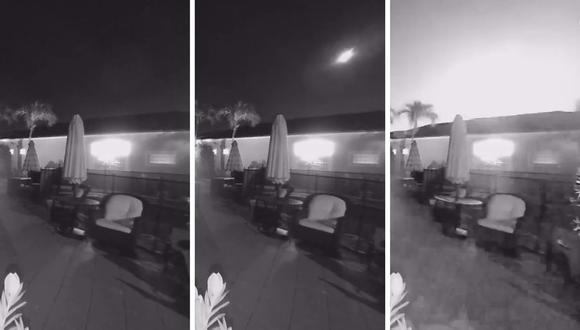 La familia que vive en la casa donde está la cámara se encontraba durmiendo y no se percató del fenómeno. (Foto: Sociedad Estadounidense de Meteoros | Facebook)