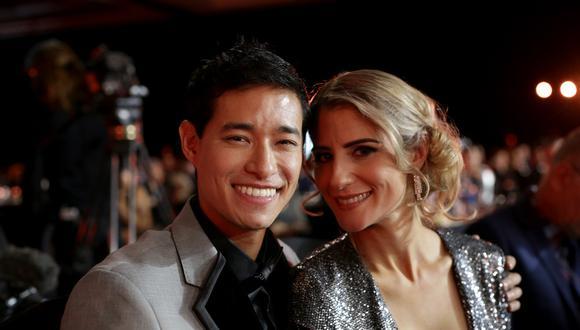 Tony Succar y su esposa Lauren en el Latin Grammy 2019. (Foto: AFP)