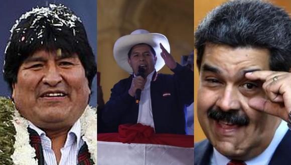 El presidente de Venezuela, Nicolás Maduro, y el exmandatario de Bolivia, Nicolás Maduro, saludaron proclamación de Pedro Castillo. (Agencias/GEC)