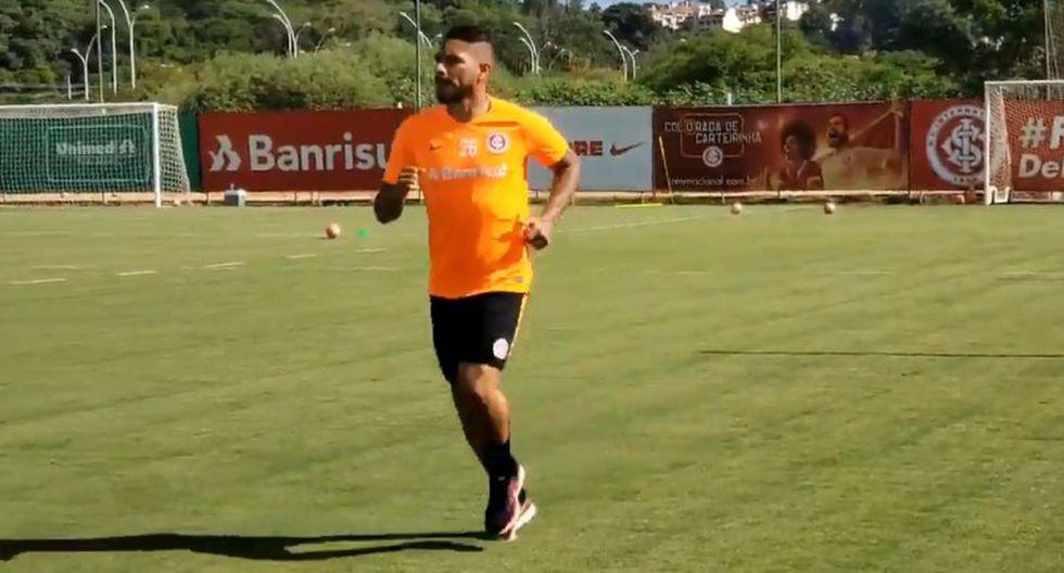 Paolo Guerrero regresó a los entrenamientos de Internacional. (Captura y video: @SCInternacional)
