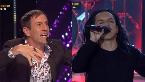 "Paolo Ávalos imita a Jonathan Davis de ""Korn"" en ""Yo Soy"". (Foto: Captura Latina)"