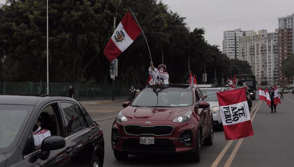 La movilización se inició pasadas las 2:00 p.m. desde la avenida La Peruanidad y concluyó en el Paseo de los Héroes Navales. (Foto: Leandro Britto / @photo.gec)