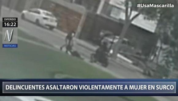 Cruel asalto fue registrado en video. (Captura Canal N)
