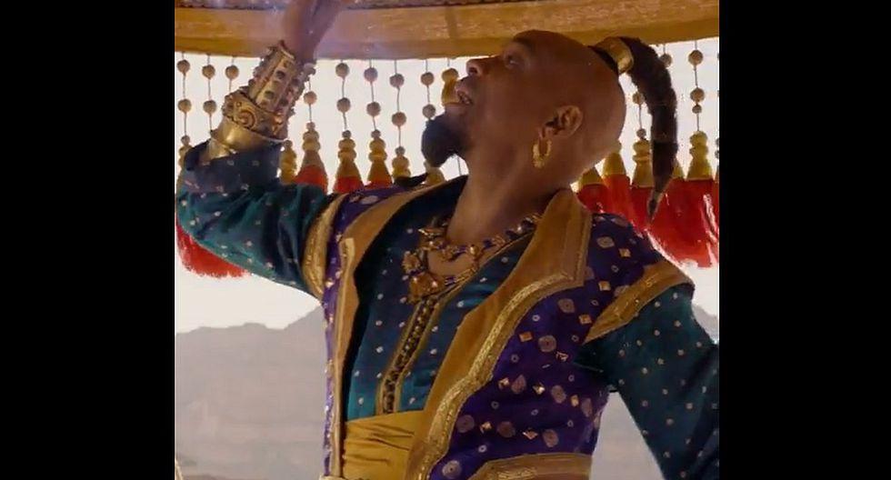 """""""Aladdin"""" revela nuevo adelanto donde el 'Genio' de Will Smith hace gala de todo su poder. (Foto: Captura de video)"""