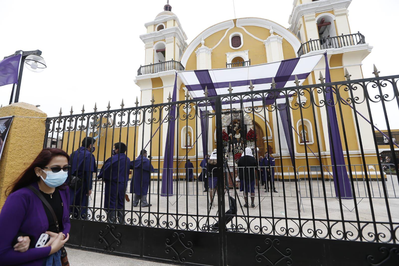 La imagen del Cristo Moreno será expuesta hasta el 31 de octubre en el salón de andas de la iglesia Las Nazarenas. Foto: Jorge Cerdan/@photo.gec