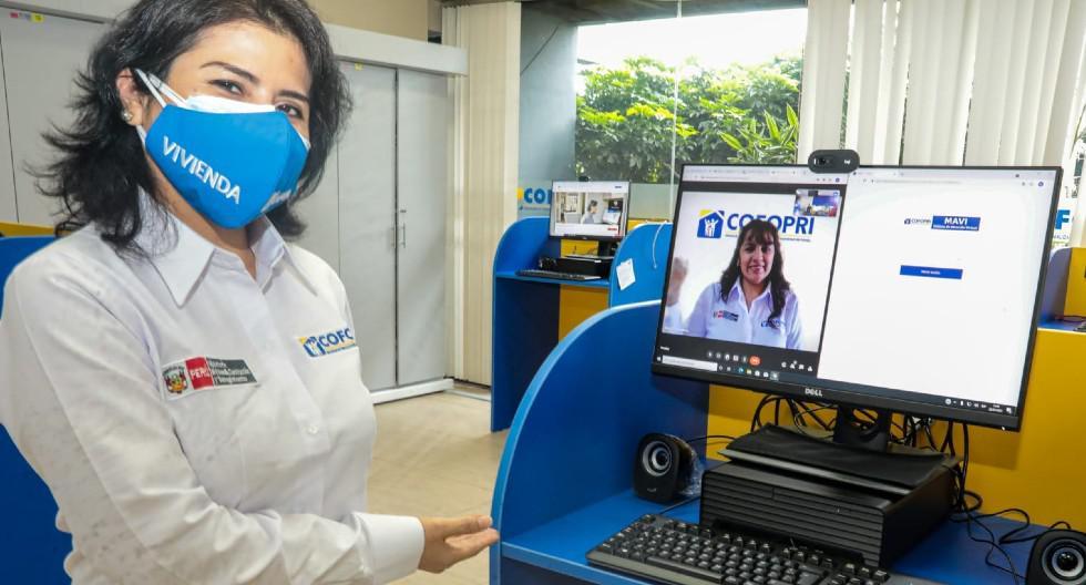 Cofopri lanza nuevo sistema de atención virtual mediante videollamadas para el público que acude buscando atención de consultas, solicitudes y trámites.