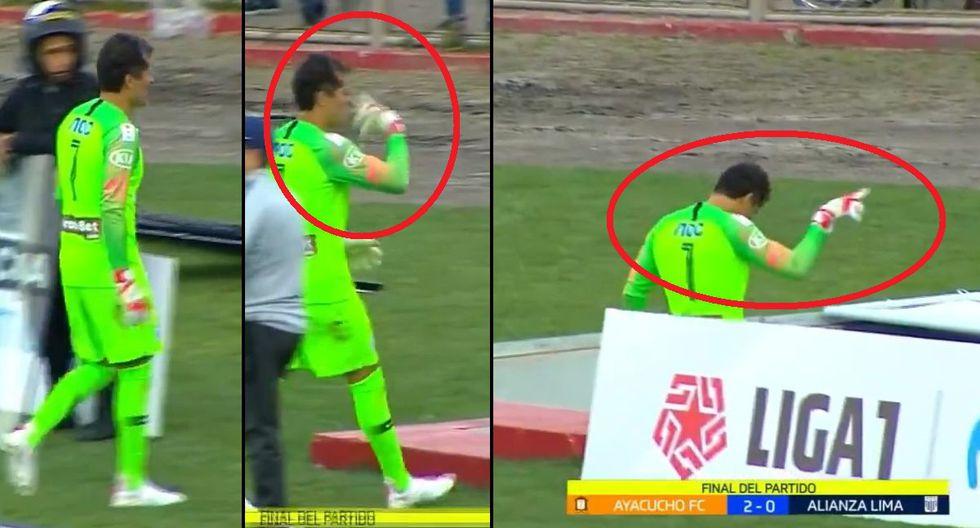 Leao Butrón generó polémica e indignación por gestos a la tribuna tras derrota de Alianza ante Ayacucho FC