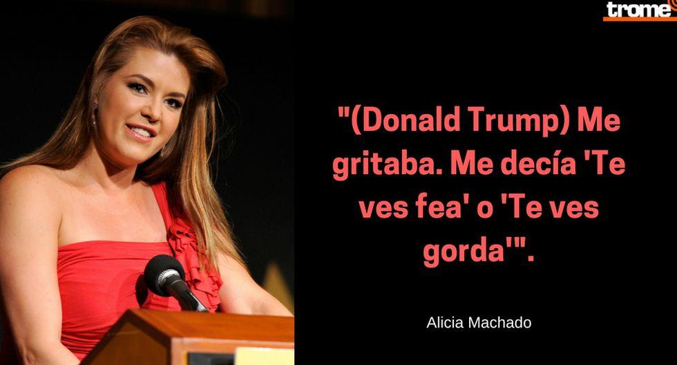 """Donald Trumo llamó """"Miss Piggy"""" y """"Miss limpieza"""" a Alicia Machado. Composición: Trome"""