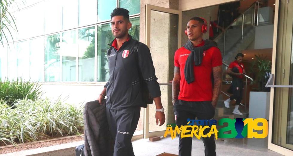 Selección peruana parte rumbo al estadio Maracaná