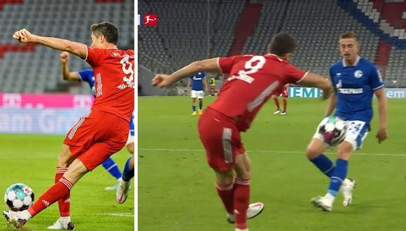 Rabona de Robert Lewandowski en goleada de Bayern Munich por Bundesliga