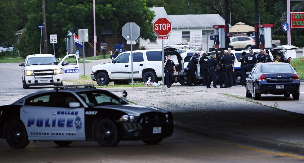 Texas: Imagen referencial que muestra a policía reunida. (EFE/Archivo).