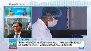 Ministerio de Salud publicará Decreto de Urgencia para compra de mascarillas como bien público