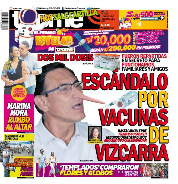 ESCÁNDALO POR VACUNAS DE VIZCARRA