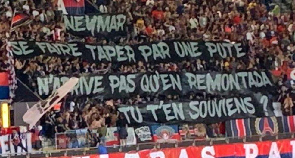 Neymar fue insultado  por las cuatro tribunas del Parque de los Príncipes