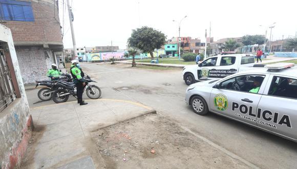 Agentes de la comisaría 'Sarita Colonia' resguardan las principales zonas rojas de su jurisdicción para evitar hechos criminales. | Foto: Gonzalo Córdova
