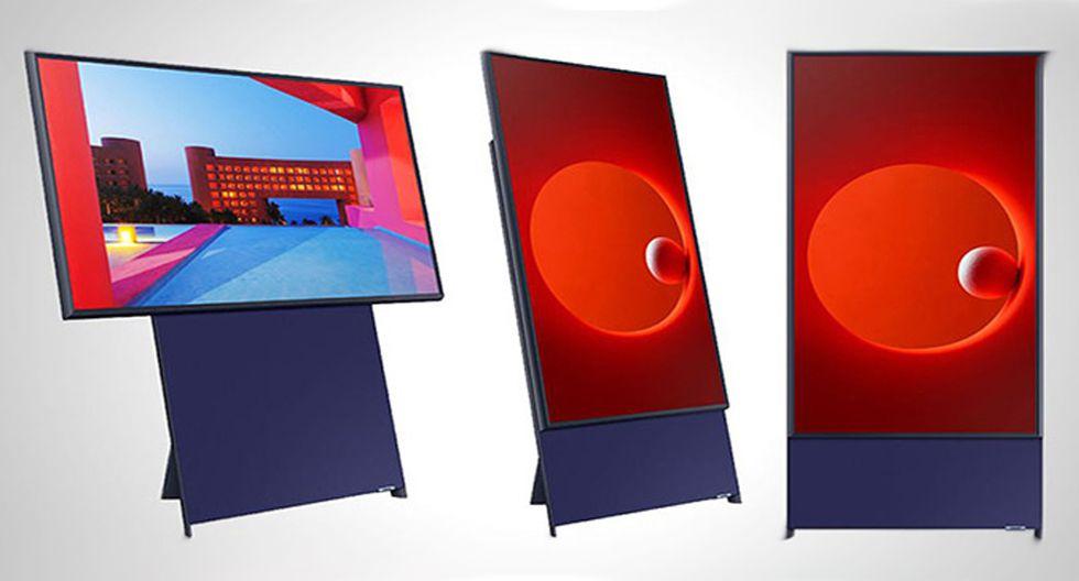 Samsung lanza una tv vertical para consumidores millenials y de la Generación Z. (Foto: Samsung)