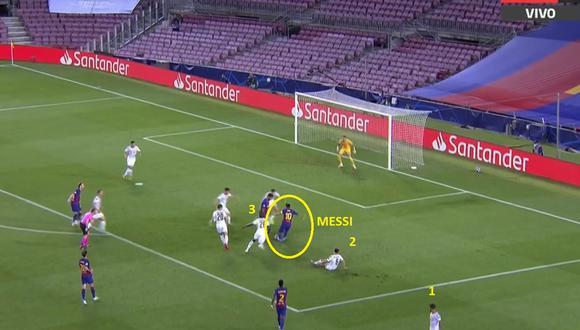 Gol de Lionel Messi en Barcelona vs Napoli por Champions League