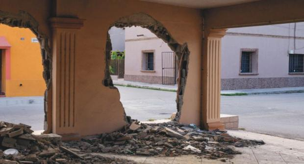 The city of Allende was demolished by Los Jetas.  (National Geography)