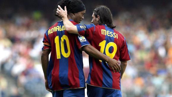 El primer gol de la 'Pulga' fue con asistencia de 'Ronnie' (1 de mayo de 2005).