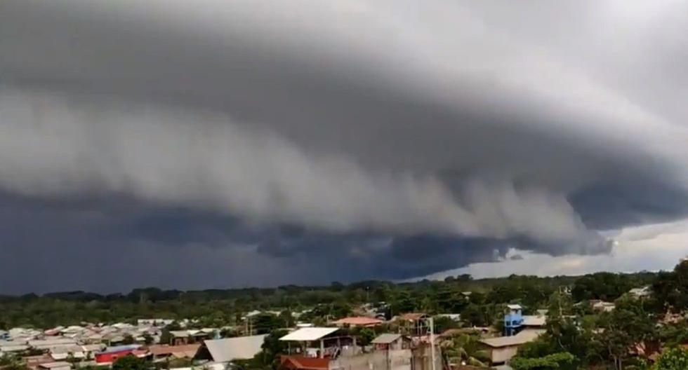 Gran asombro causó extraña nube de tormenta en Pucallpa