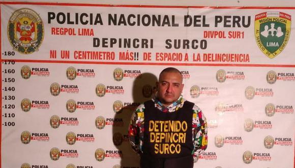 Jhon Humberto Caman Guadamor (40), 'Toretto', fue intervenido por policías de Depincri Surco por participar de un asalto a mano armada a un menor de 15 años. (foto: Trome)