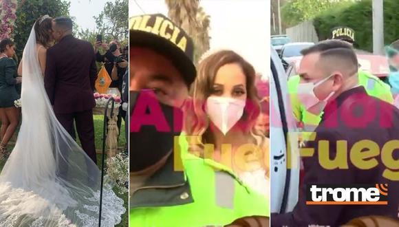 Olinda Castañeda se casa con empresario, hace fiesta, pero todos terminan en la comisaría