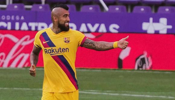 Arturo Vidal se despidió de Barcelona. (Foto: EFE)