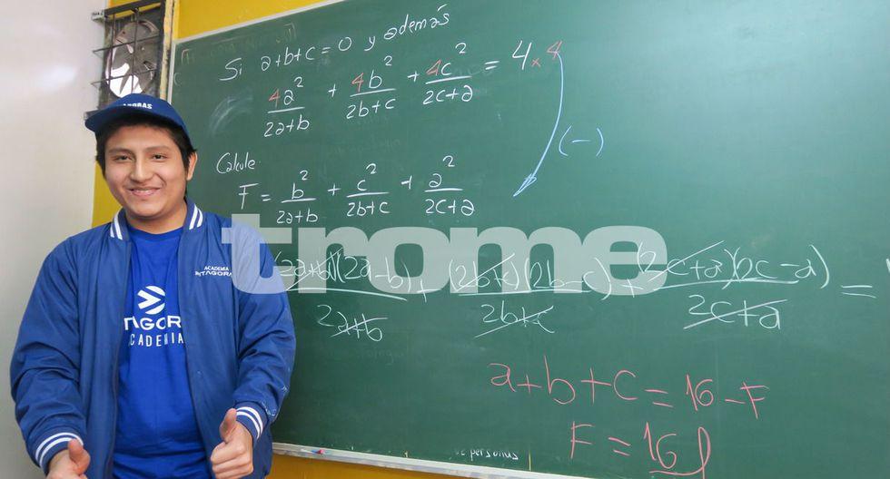 Bernabé Sánchez Sánchez (18) logró ingresar a la Universidad Nacional de Ingeniería (UNI) en el primer puesto del cómputo general. (Fotos: Trome)