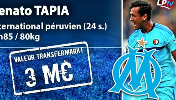 Olympique de Marsella ya observa a Renato Tapia para ficharlo la próxima temporada