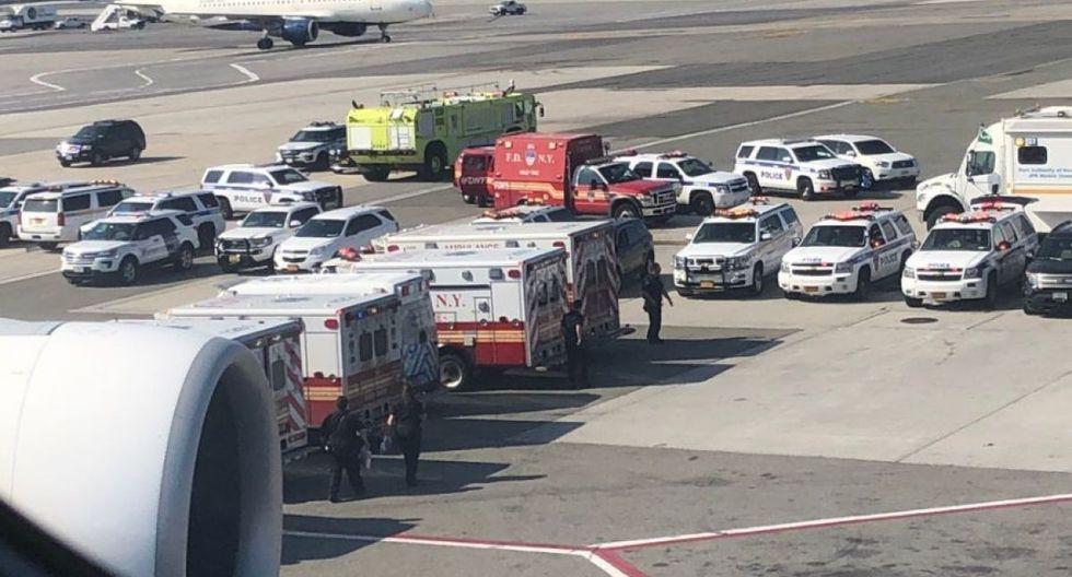 Nueva York: Alerta Bacteriológica por avión de Emirates que llegó de Dubái con 100 pasajeros enfermos (Foto: Twitter)