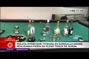 Surquillo: nueve detenidos por participar de fiesta durante toque de queda