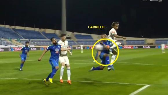 André Carrillo anotó golazo en Al Fateh vs Al Hilal por liga de Arabia Saudita