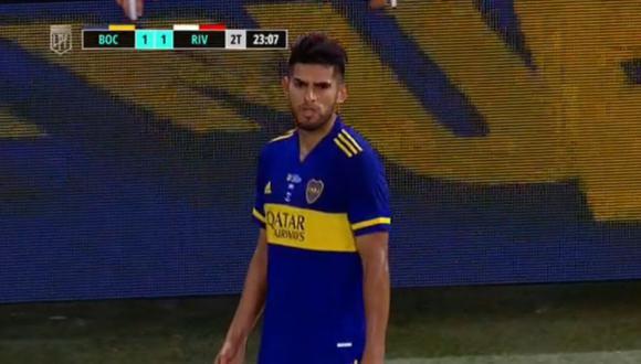Carlos Zambrano expulsado en Boca Juniors vs River Plate