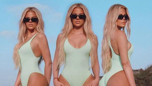 Khloé Kardashian desata polémica tras publicar fotos en las que parece otra persona. (Foto: Instagram)